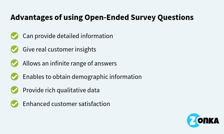 Advantages of Open-Ended Questions