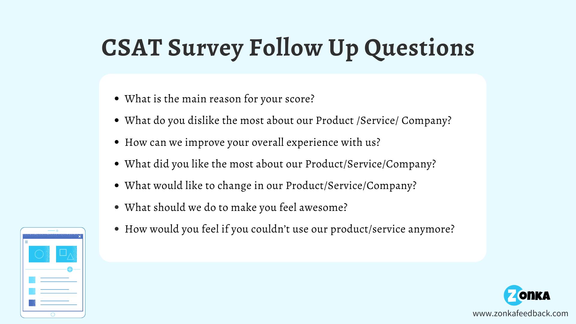CSAT Survey Follow-Up Questions