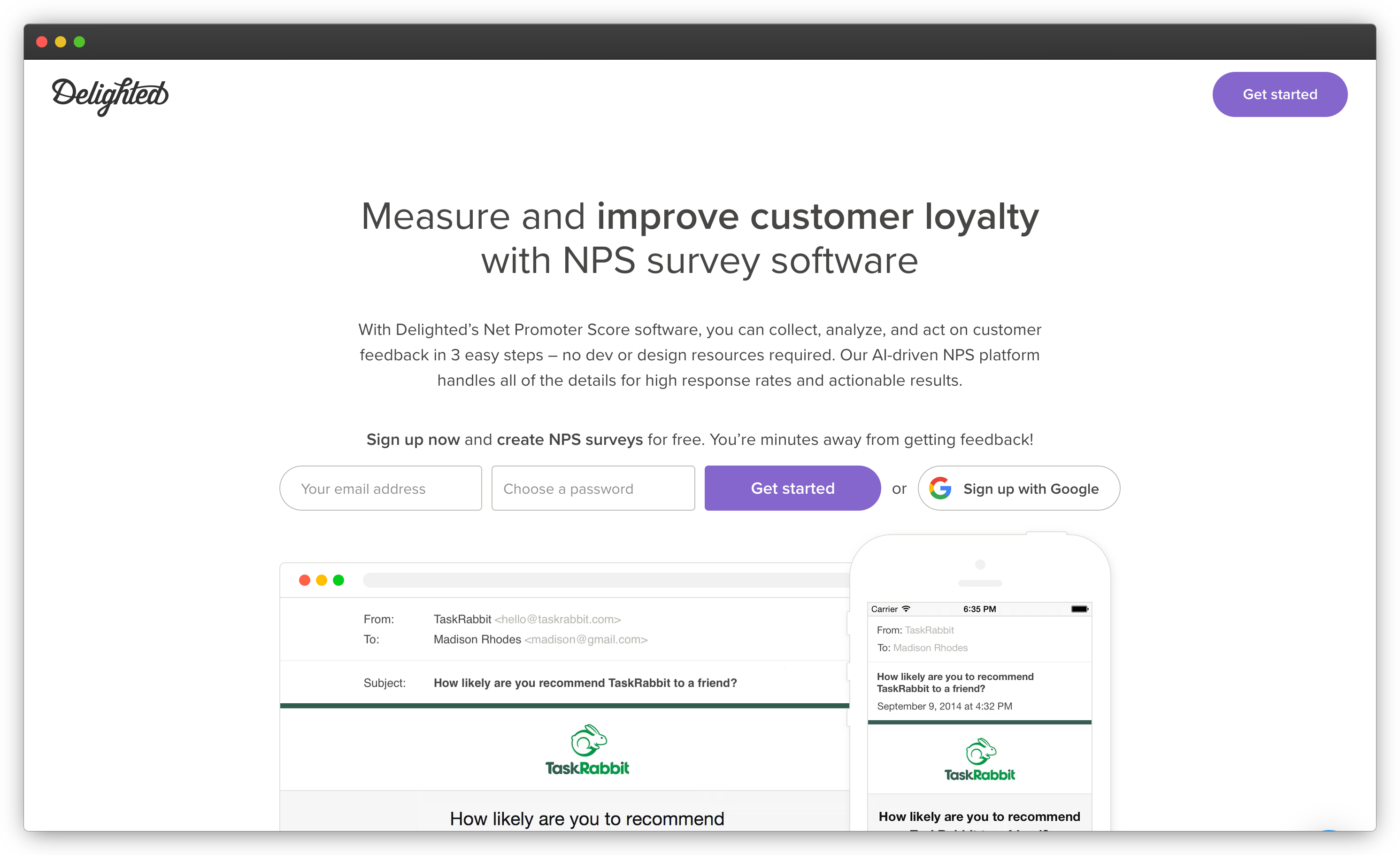 Delighted - NPS Software