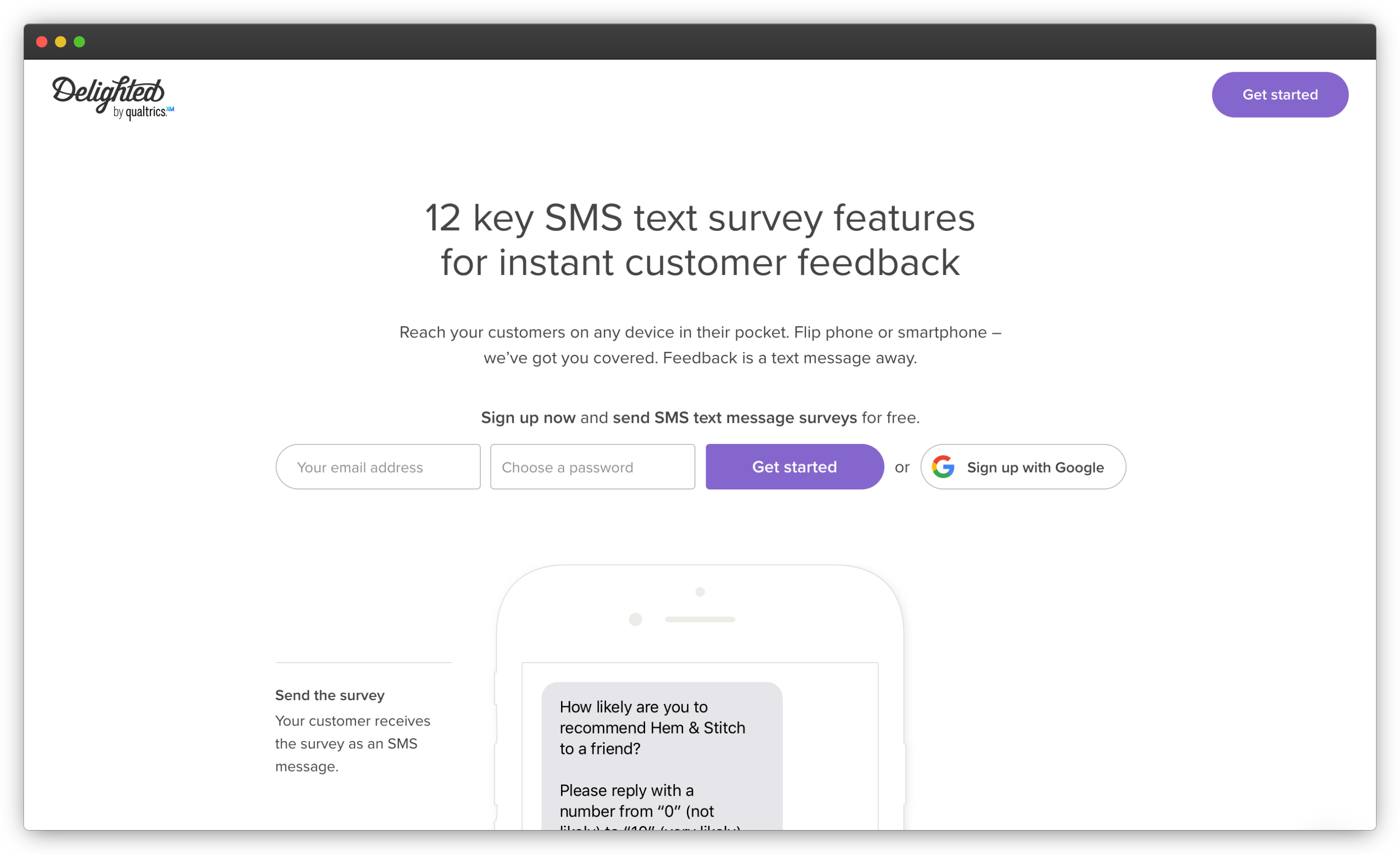 Delighted SMS Surveys