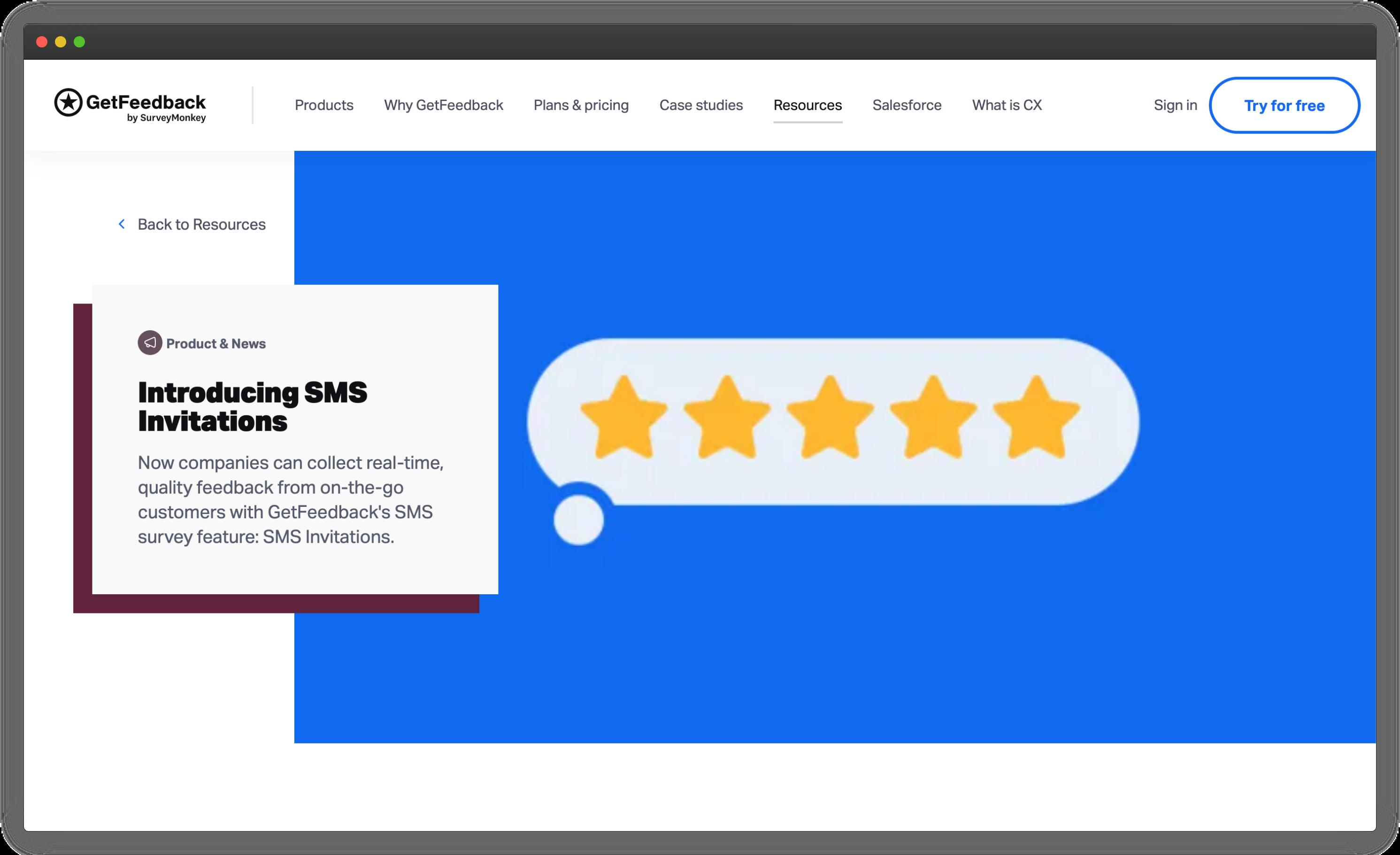 GetFeedback SMS Surveys