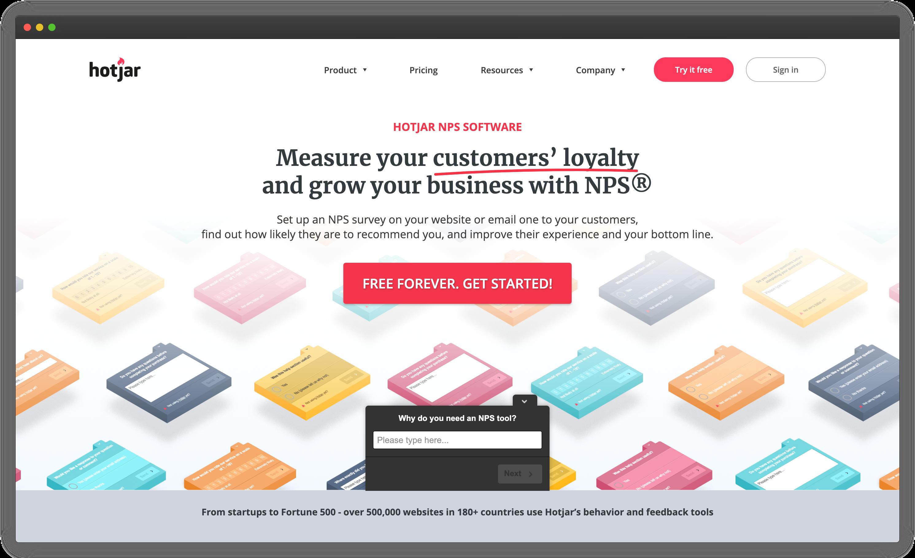 Hotjar - NPS Software