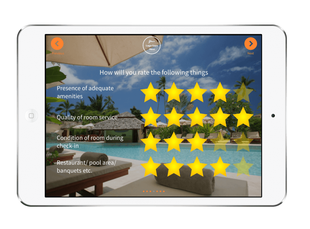 Monitor Customer Satisfaction with Rating Question - Hotel Feedback App