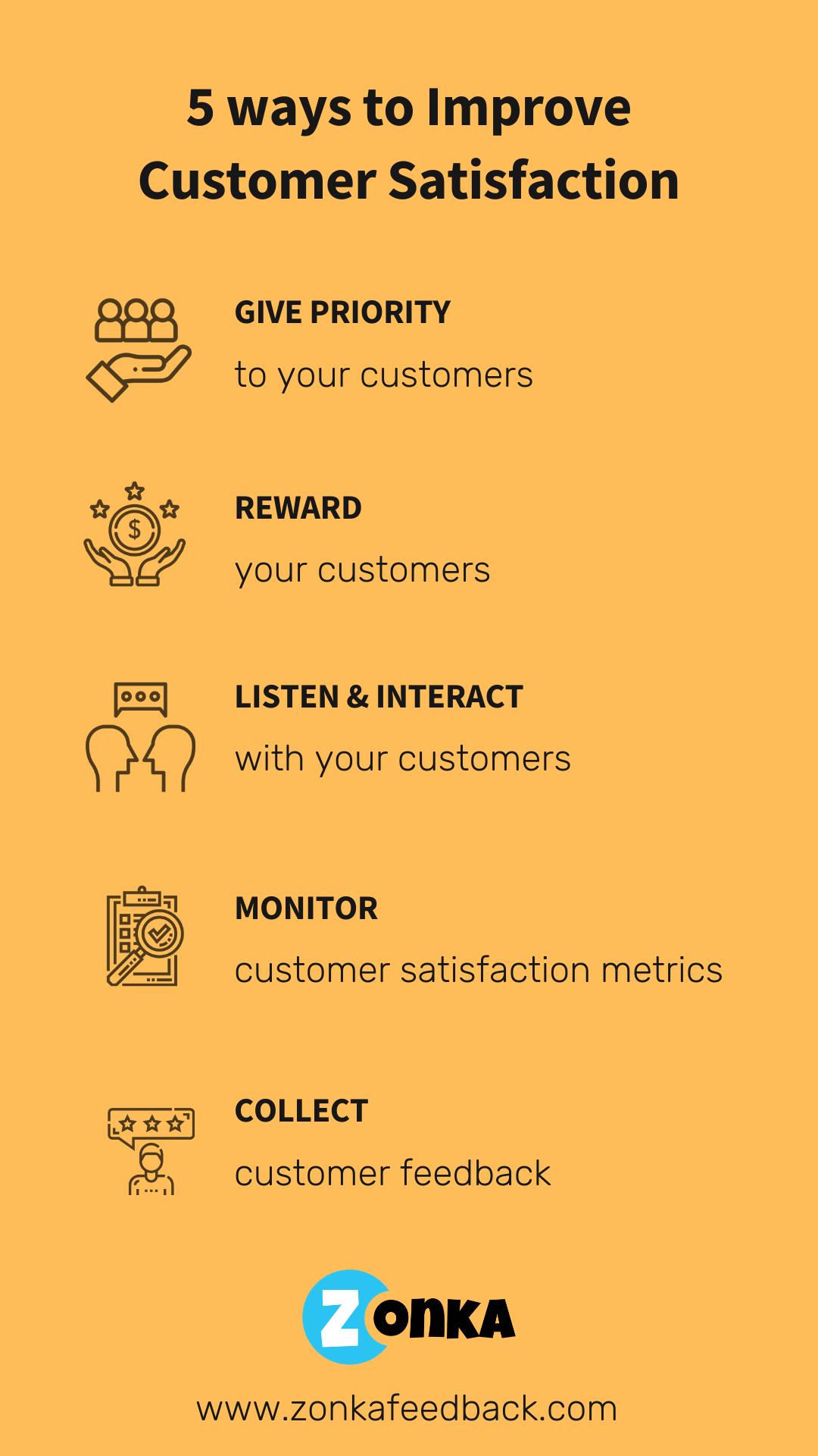 5 Ways to Improve Customer Satisfaction