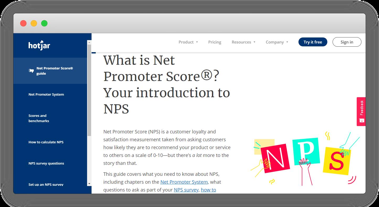 NPS Software - Hotjar