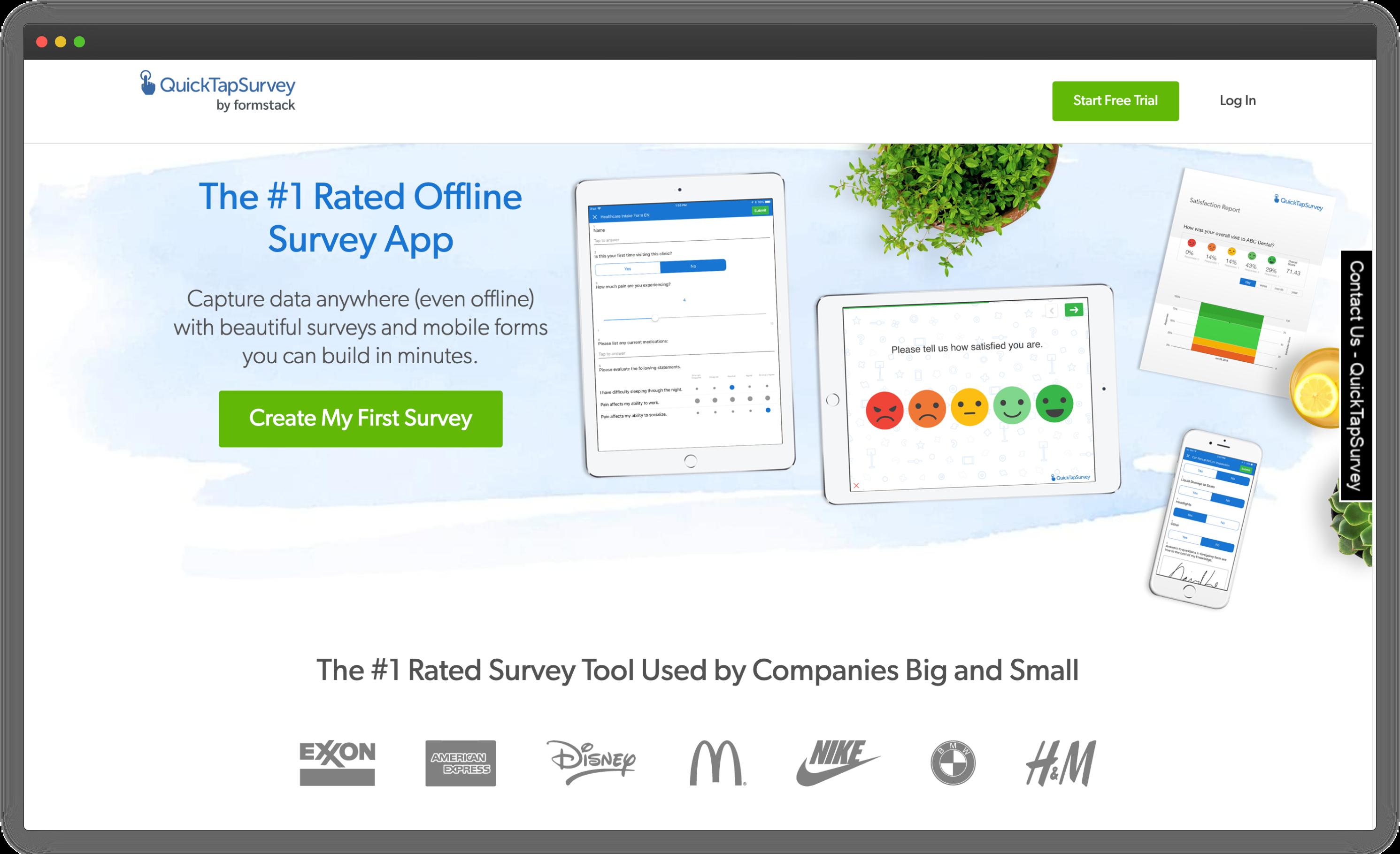 QuickTapSurvey Android Survey App
