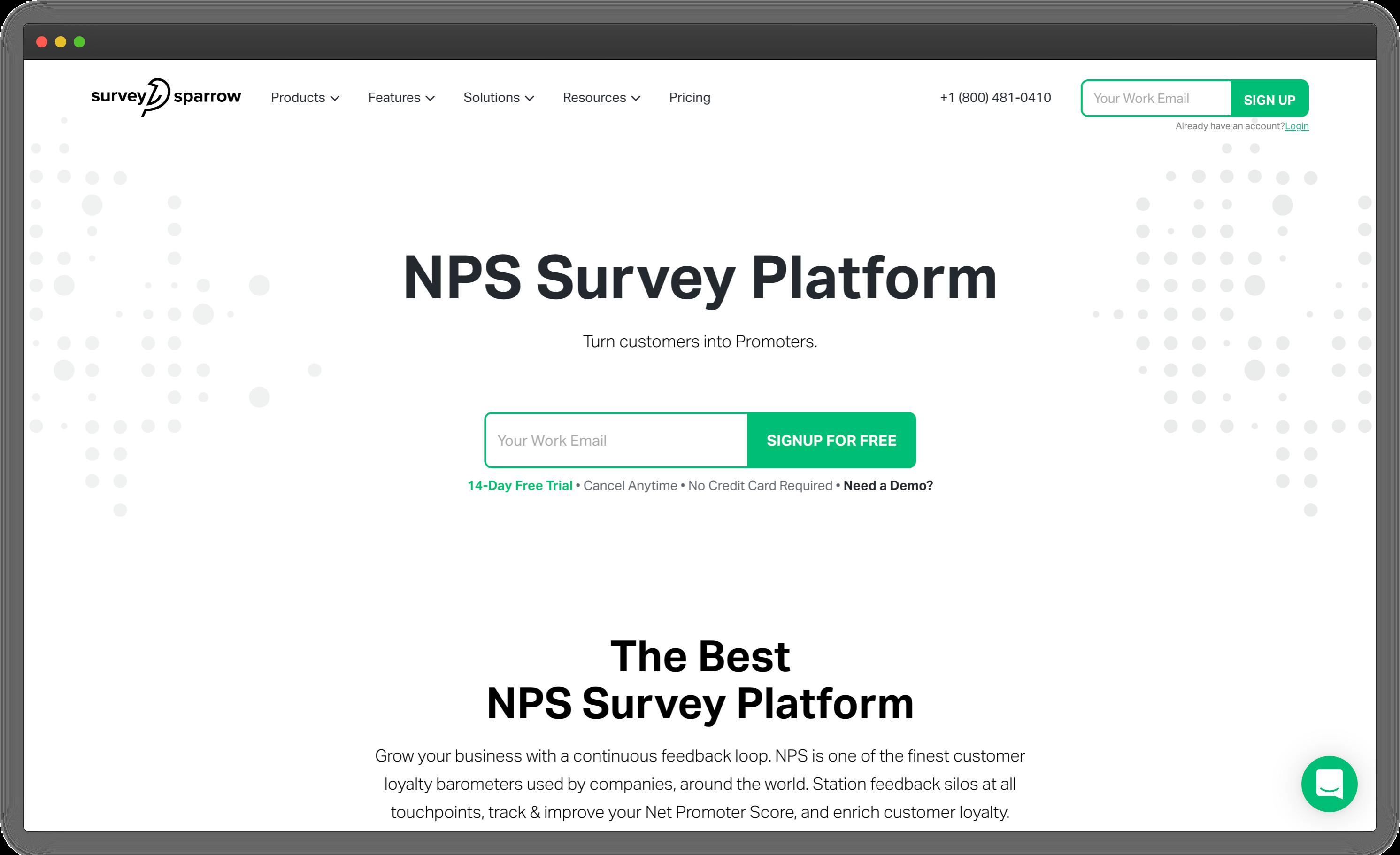 Survey Sparrow - NPS Software