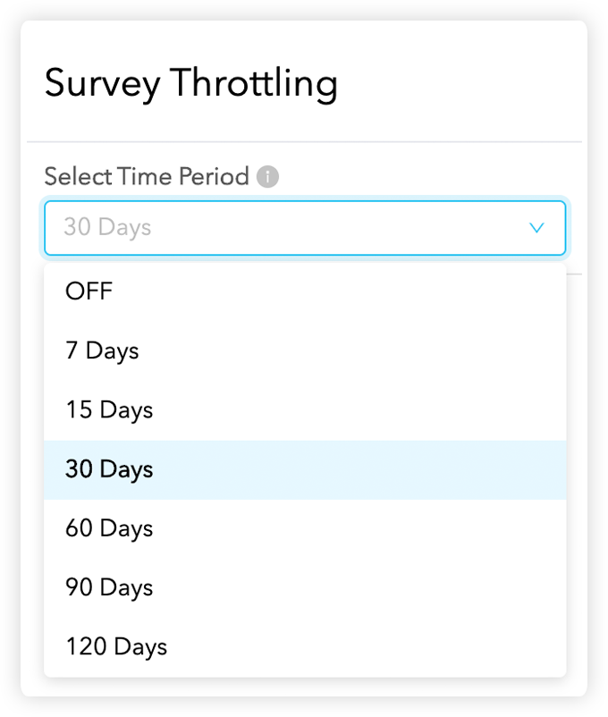 Survey-throtting