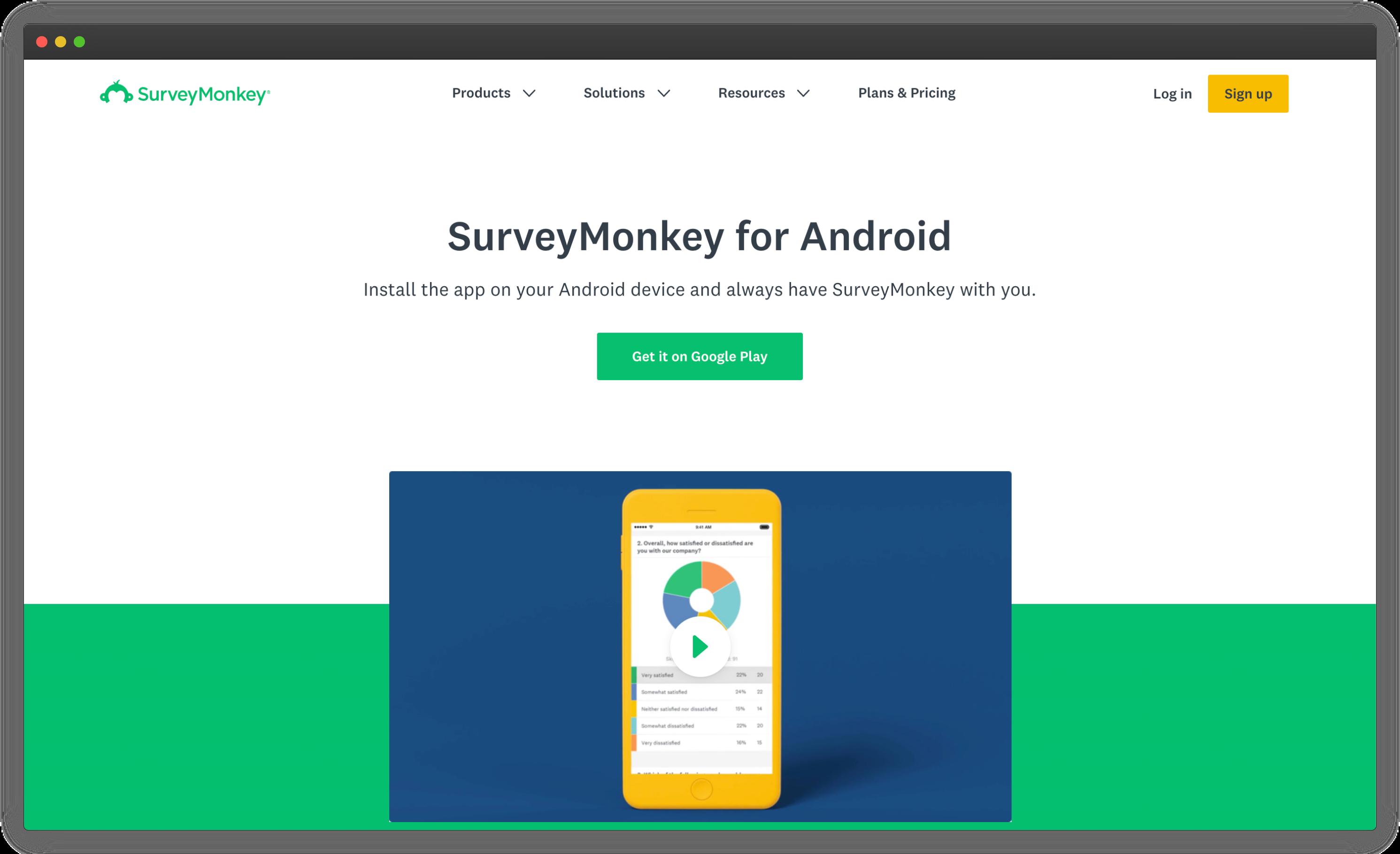 SurveyMonkey Android Survey App