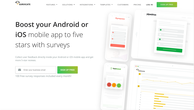 Survicate Android Survey App