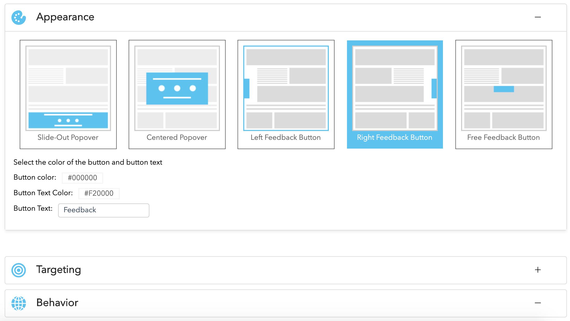 Website Widget - Appearance Settings