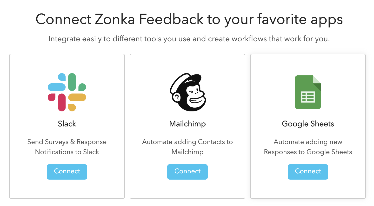 Zonka Feedback Integrations