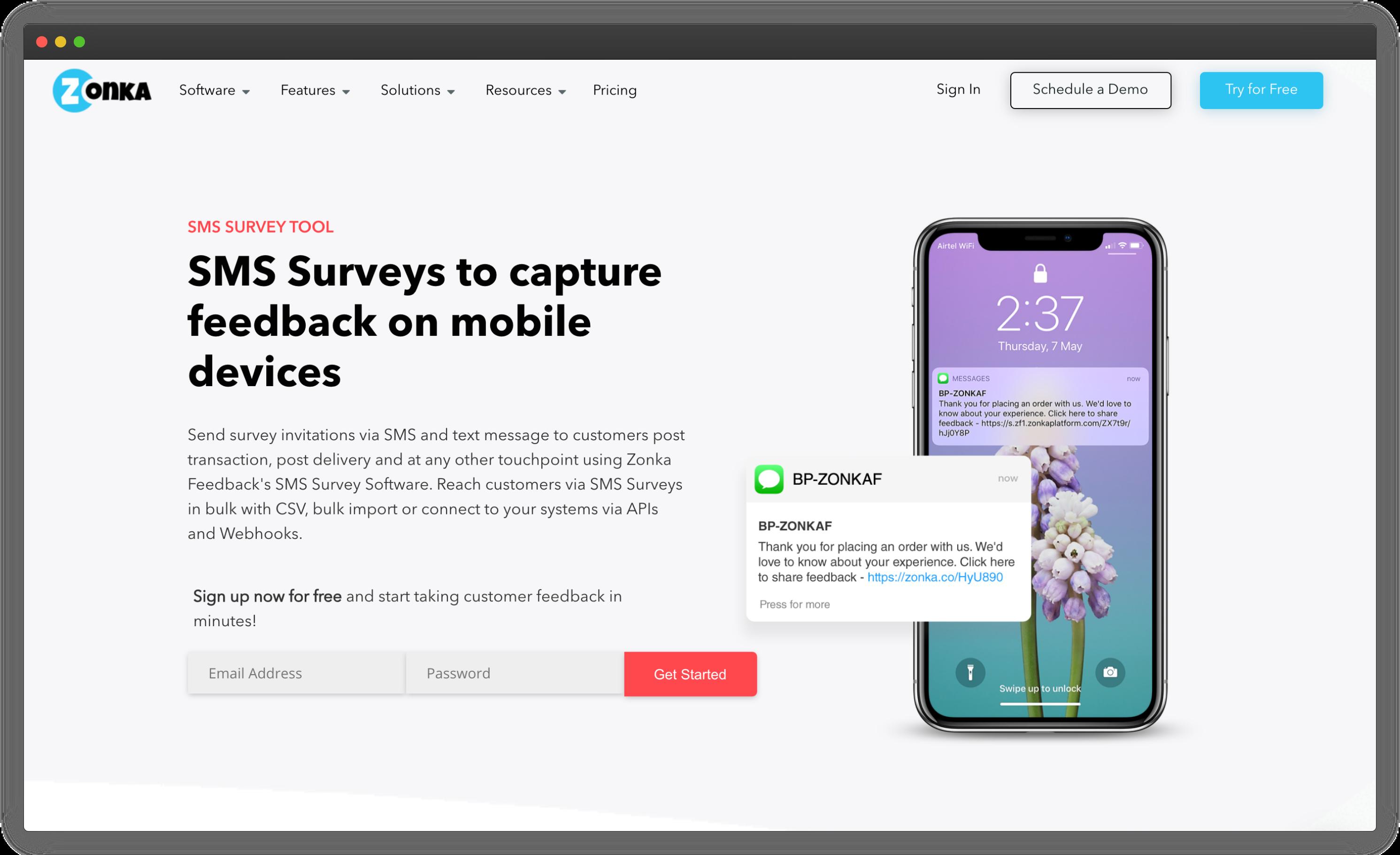 Zonka Feedback SMS Surveys