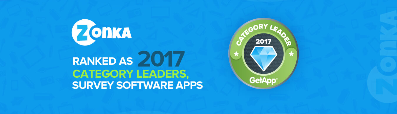 Zonka Ranked As 2017 Category Leaders for Survey Software Apps by GetApp
