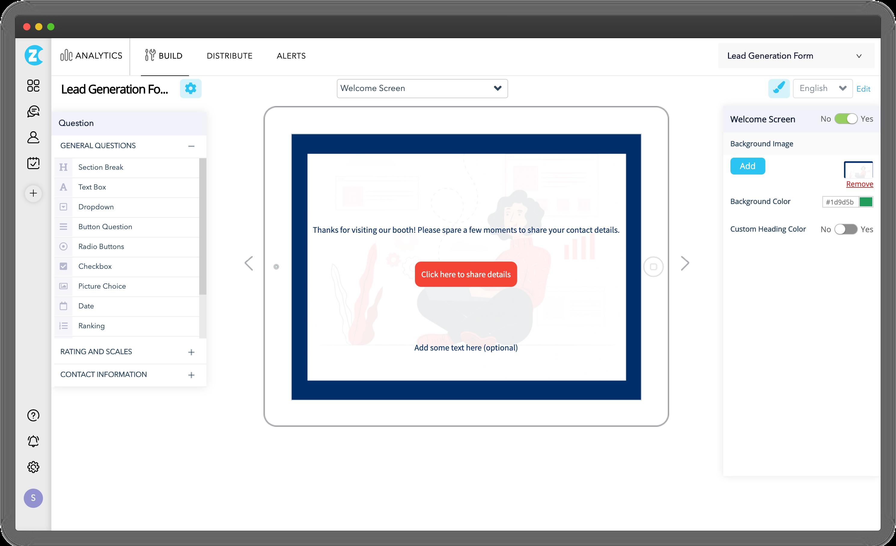 Customize Lead Capture Forms