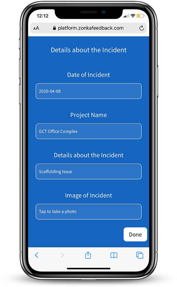 MobileForm - Incident Details