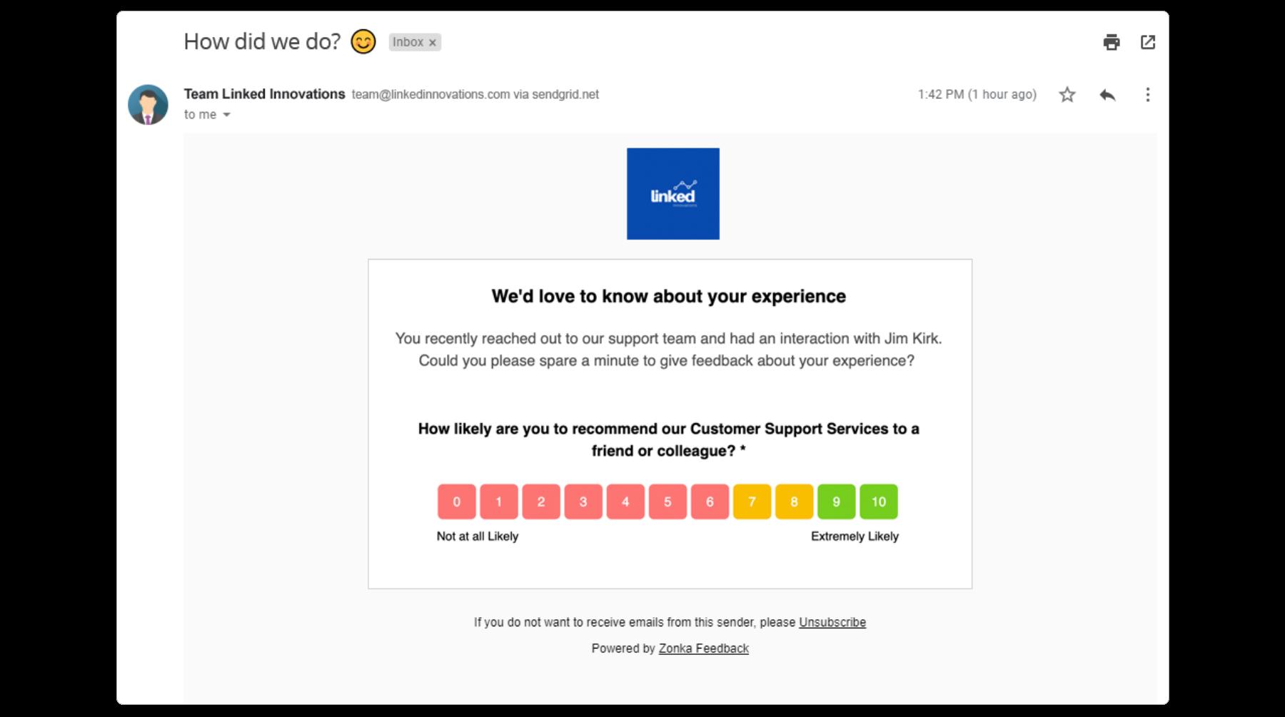 NPS Email Survey