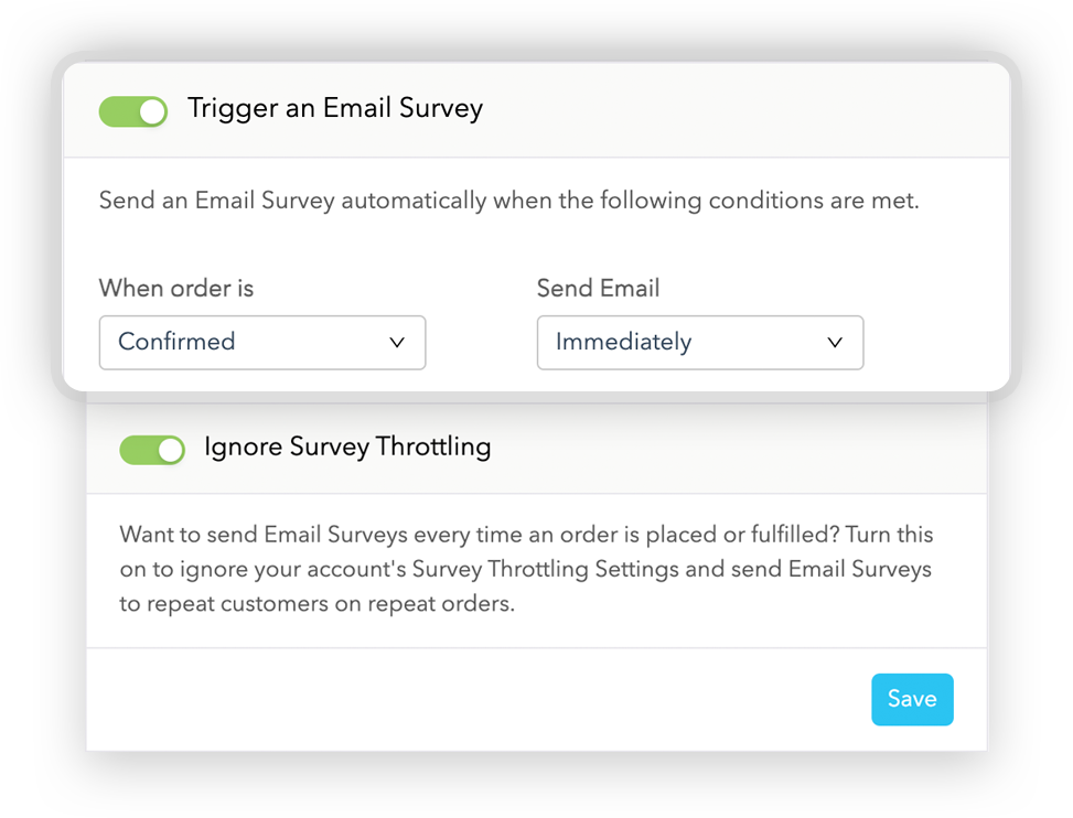 Trigger an Email Survey when Order is Confirmed
