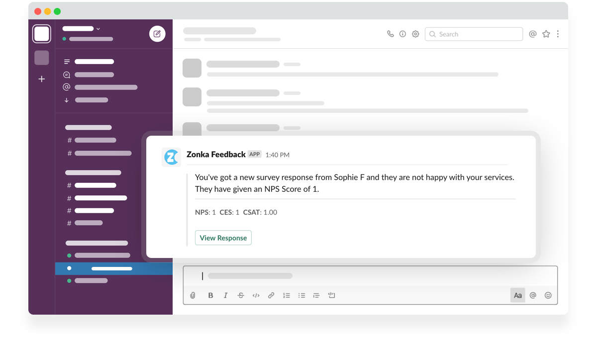 Zonka Feedback Custom Notifications & Alerts in Slack
